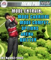 Image du menu du jeu Tiger Woods PGA Tour 2004 sur Nokia N-Gage