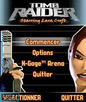 Image du menu du jeu Tomb Raider sur Nokia N-Gage