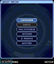 Image du menu du jeu Tom Clancy's Ghost Recon - Jungle Storm sur Nokia N-Gage