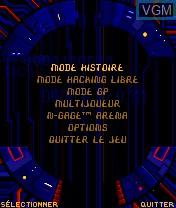 Image du menu du jeu System Rush sur Nokia N-Gage