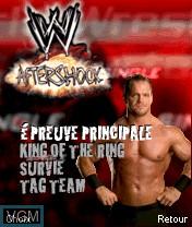 Image du menu du jeu WWE Aftershock sur Nokia N-Gage
