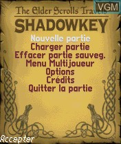 Image du menu du jeu Elder Scrolls Travels, The - Shadowkey sur Nokia N-Gage