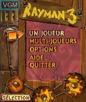Image du menu du jeu Rayman 3 sur Nokia N-Gage