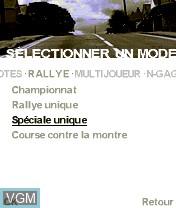 Image du menu du jeu Colin McRae Rally 2005 sur Nokia N-Gage