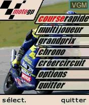 Image du menu du jeu MotoGP sur Nokia N-Gage