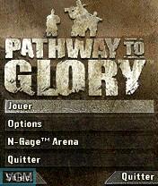 Image du menu du jeu Pathway to Glory sur Nokia N-Gage