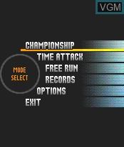 Image du menu du jeu Sega Rally Championship sur Nokia N-Gage