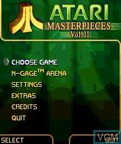Image du menu du jeu Atari Masterpieces Vol. II sur Nokia N-Gage