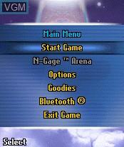 Image du menu du jeu Mile High Pinball sur Nokia N-Gage