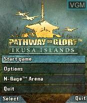 Image du menu du jeu Pathway to Glory - Ikusa Islands sur Nokia N-Gage