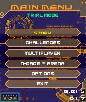 Image du menu du jeu Payload sur Nokia N-Gage