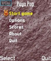 Image du menu du jeu Puyo Pop sur Nokia N-Gage