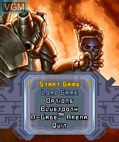 Image du menu du jeu Rifts - Promise of Power sur Nokia N-Gage