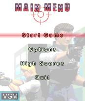 Image du menu du jeu Virtua Cop sur Nokia N-Gage