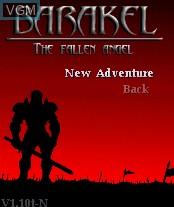 Image du menu du jeu Barakel - The Fallen Angel sur Nokia N-Gage