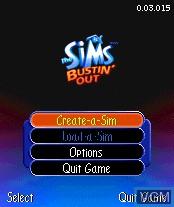 Image du menu du jeu Sims, The - Bustin' Out sur Nokia N-Gage