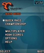 Image du menu du jeu Stunt Car Extreme sur Nokia N-Gage