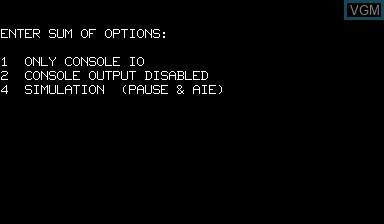 Image de l'ecran titre du jeu ELIZA - The Classic Game sur Nascom