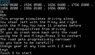 Image de l'ecran titre du jeu Crash Count Gear sur Nascom