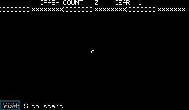 Image du menu du jeu Crash Count Gear sur Nascom