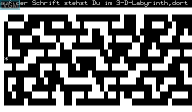 Image in-game du jeu 3D-Labyrinth sur Nascom