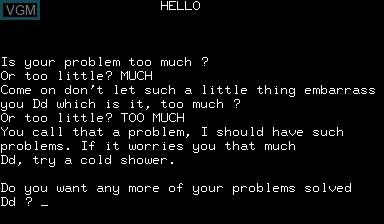 Image in-game du jeu Hello sur Nascom