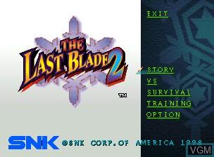 Image de l'ecran titre du jeu Bakumatsu Roman Dai Ni Maku Gekka no Kenshi - Tsuki ni Saku Hana, Chiriyuku Hana sur SNK NeoGeo CD