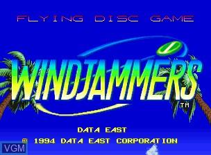 Image de l'ecran titre du jeu Flying Power Disc sur SNK NeoGeo CD