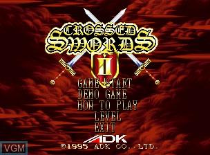 Image de l'ecran titre du jeu Crossed Swords II sur SNK NeoGeo CD