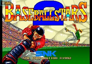 Image de l'ecran titre du jeu Baseball Stars 2 sur SNK NeoGeo CD