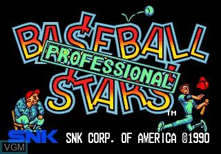 Image de l'ecran titre du jeu Baseball Stars Professional sur SNK NeoGeo CD