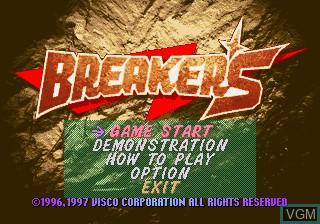 Image de l'ecran titre du jeu Breakers sur SNK NeoGeo CD