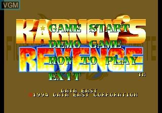 Image de l'ecran titre du jeu Fighter's History Dynamite sur SNK NeoGeo CD