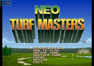 Image de l'ecran titre du jeu Big Tournament Golf sur SNK NeoGeo CD