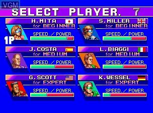 Image du menu du jeu Flying Power Disc sur SNK NeoGeo CD
