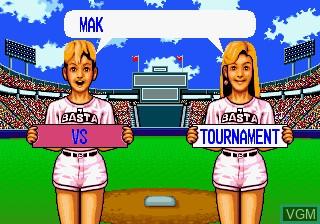 Image du menu du jeu Baseball Stars Professional sur SNK NeoGeo CD