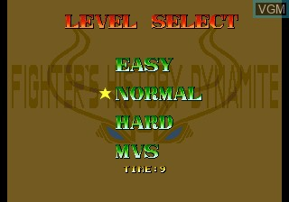 Image du menu du jeu Fighter's History Dynamite sur SNK NeoGeo CD