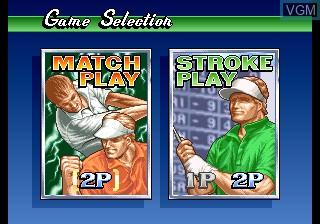 Image du menu du jeu Big Tournament Golf sur SNK NeoGeo CD