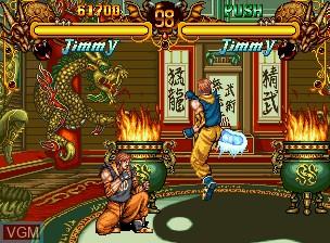 Image in-game du jeu Double Dragon sur SNK NeoGeo CD