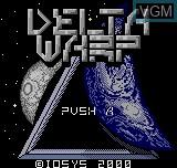 Image de l'ecran titre du jeu Delta Warp sur SNK NeoGeo Pocket