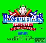 Image de l'ecran titre du jeu Baseball Stars Color sur SNK NeoGeo Pocket