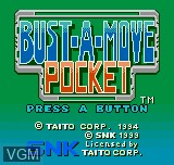 Image de l'ecran titre du jeu Bust-A-Move Pocket sur SNK NeoGeo Pocket