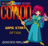 Image de l'ecran titre du jeu Cotton - Fantastic Night Dreams sur SNK NeoGeo Pocket