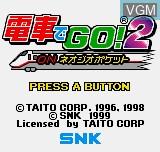 Image de l'ecran titre du jeu Densha De GO! 2 sur SNK NeoGeo Pocket