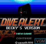 Image de l'ecran titre du jeu Dive Alert - Rebecca Version sur SNK NeoGeo Pocket