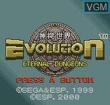 Image de l'ecran titre du jeu Evolution - Eternal Dungeons sur SNK NeoGeo Pocket