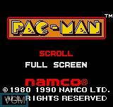 Image de l'ecran titre du jeu Pac-Man sur SNK NeoGeo Pocket