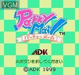 Image de l'ecran titre du jeu Party Mail sur SNK NeoGeo Pocket