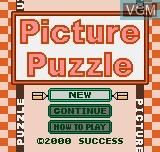 Image de l'ecran titre du jeu Picture Puzzle sur SNK NeoGeo Pocket
