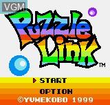 Image de l'ecran titre du jeu Puzzle Link sur SNK NeoGeo Pocket
